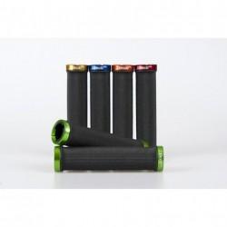 X-Tasy manopole MTB RSK-09-2 LOCKING nero-verde