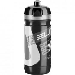 ELITE borraccia CORSA BLACK 550ml con logo argento