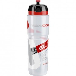ELITE borraccia MAXI CORSA CLEAR 950ml con logo rosso