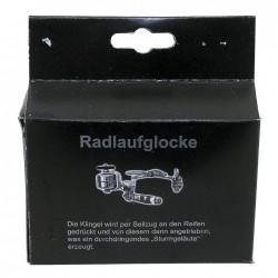 M-WAVE campanello Radlaufglocke acciaio cromato