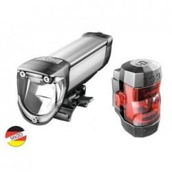 B&M kit luci ant. + post. IXON Core + IXXI 50 Lux argento anodizzato
