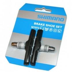 Shimano pattini freno V-Brake M70T3 montaggio con viti