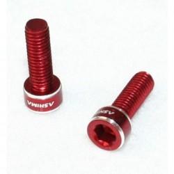Ashima viti portaborraccia in alluminio rosso 2 pezzi