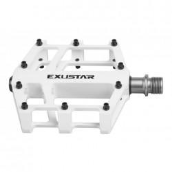 EXUSTAR pedali MTB/BMX E-PB525 bianchi con piattaforma