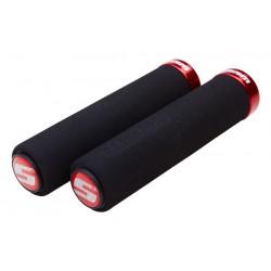 Manopole Lock-On SRAM MTB Foam Locking black/red
