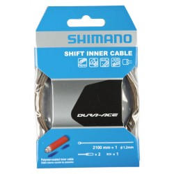 Cavo cambio Shimano Dura Ace Polymer Coated 1,2mm x 2100mm with End Cap