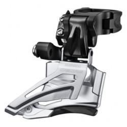 Deragliatore anteriore 2x10 velocità Shimano FD-M618 High Clamp / Top-Pull