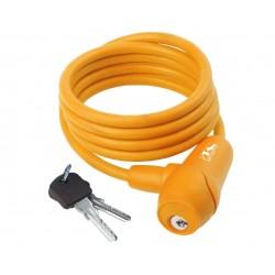 M-Wave lucchetto a spirale 8x1500mm arancione