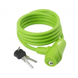 M-Wave lucchetto a spirale 8x1500mm verde