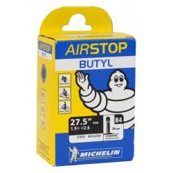 """Camera d'aria Michelin Airstop B4 27.5"""" MTB 48/62-584 AV 34mm"""