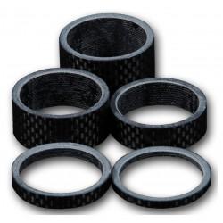 """Kit distanziali 1 1/8"""" 3/5/10/15/20mm 1 1/8 """"3k Carbon"""