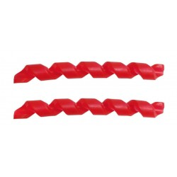 Quaxar Protezione in gomma per telaio rossa