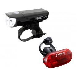Set luci Cateye GVolt 20 HL-EL350G + TL-LD135G