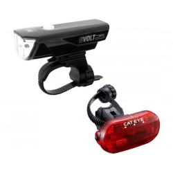 Set luci Cateye GVolt 25 HL-EL360GRC + TL-LD135G