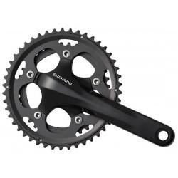 Guarnitura Compact 2x10 velocità Shimano FC-CX50 Cyclocross 46/36T 175mm senza movimento centrale nero