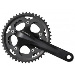 Guarnitura Compact 2x10 velocità Shimano FC-CX50 Cyclocross 46/36T 170mm without bottom brackets black 170 mm,2 x 10-fach