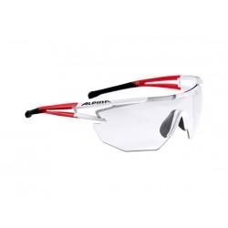 Occhiali Alpina Eye5 Shield VL+ bianco/rosso