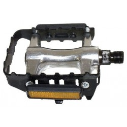 M-WAVE pedali MTB argento
