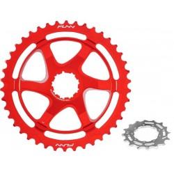 Epansione per pacco pignoni a 10 velocità FUNN Clinch Extension Cog 40T Shimano Rosso