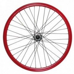 MV-TEK COPPIA RUOTE FIXED 300 SINGLE SPEED ROSSO 30MM