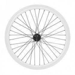 MV-TEK COPPIA RUOTE FIXED 400 SINGLE SPEED CONTROPEDALE BIANCO