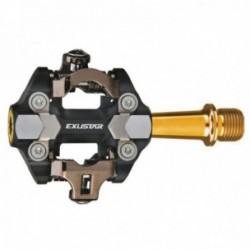 Pedali Exustar MTB E-PM222TI 82.2x61.6mm alluminio nero