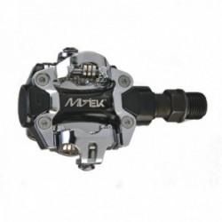 MV-TEK COPPIA PEDALI MTB M101 DOPPIO ATTACCO SPD NERO