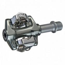 Pedali Exustar MTB E-PM215+ 81x55mm alluminio anodizzato