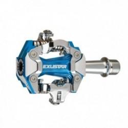 Pedali sgancio rapido Exustar E-PM230 82x63mm alluminio estruso blu