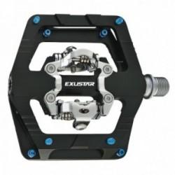 Pedali Exustar MTB E-PM824 112.5x101mm in alluminio estruso