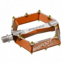 Pedali flat Funn BIG FOOT EVO 105x102x16.8mm alluminio arancione