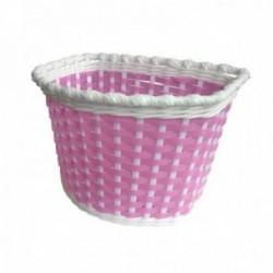BABY-BOOM cestino anteriore in plastica colorata con fiori di plastica
