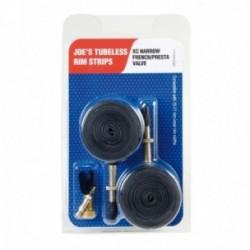 """Nastri di conversione JOE'S NO FLATS 15-17mm NARROW presta 26"""" confezione da 2 pezzi + valvola"""