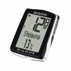 Sigma Sport, Computerini, BC 14.16 STS, senza fili, funzioni bici: velocità attuale, velocità media, durata percorso, velocità