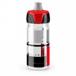 ELITE, Trinkflasche, CRYSTAL OMBRA CLEAR , red graphic 550ml