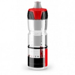 ELITE, Trinkflasche, CRYSTAL OMBRA CLEAR , red graphic 750ml