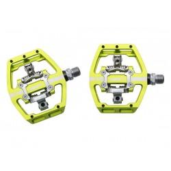Pedali MTB sgancio rapido HT Components DH RACE X1 Platform-/Clickpedals giallo
