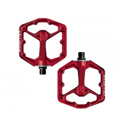Pedali MTB flat CrankBrothers Stamp rosso Small