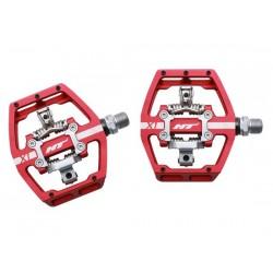 Pedali MTB sgancio rapido HT Components DH RACE X1 Platform-/Clickpedals rosso