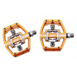 Pedali MTB sgancio rapido HT Components DH RACE X1 Platform-/Clickpedals arancione