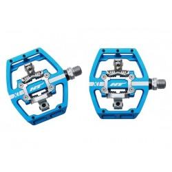 Pedali MTB sgancio rapido HT Components DH RACE X1 Platform-/Clickpedals blu