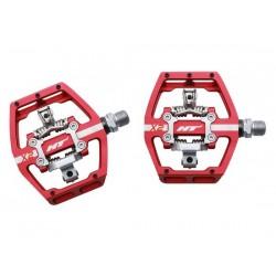 Pedali MTB sgancio rapido HT Components DH RACE X2 Platform-/Clickpedals rosso