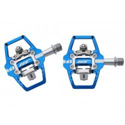 Pedali MTB sgancio rapido HT Components ENDURO RACE T1 Platform-/Clickpedals blu