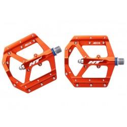 Pedali MTB flat HT Components EVO AE03 arancione