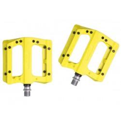 Pedali MTB flat HT Components NANO-P PA12A giallo