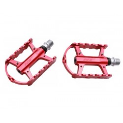 Pedali MTB flat HT Components CHEETAH-S ARS02 Cage rosso