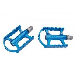 Pedali MTB flat HT Components CHEETAH-S ARS02 Cage blu