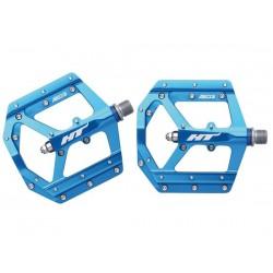 Pedali MTB flat HT Components EVO AE03 blu