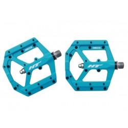 Pedali MTB flat HT Components EVO-MAG ME03 blu