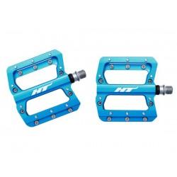 Pedali MTB flat HT Components NANO AN14A blu
